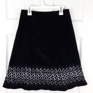Boden Flippy Corduroy Skirt A-line Ribbon Detail